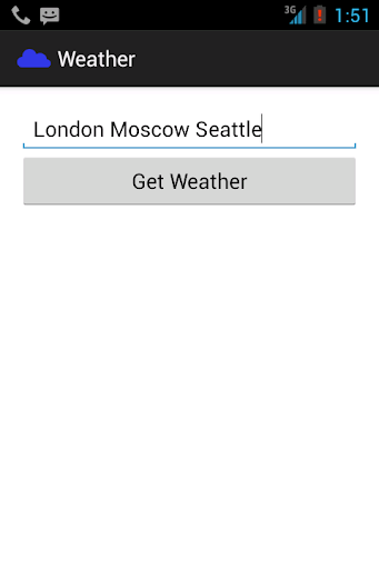 Multi City Weather