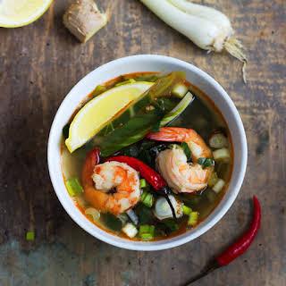 Quick & Healthy Shrimp Vegetable Soup.
