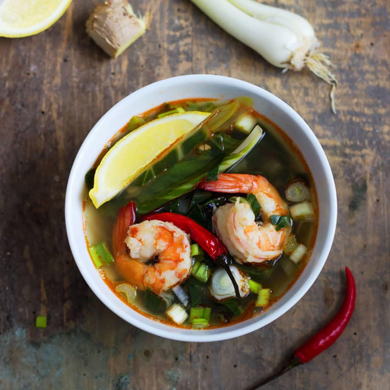 sharp & Healthy Shrimp Vegetable Soup