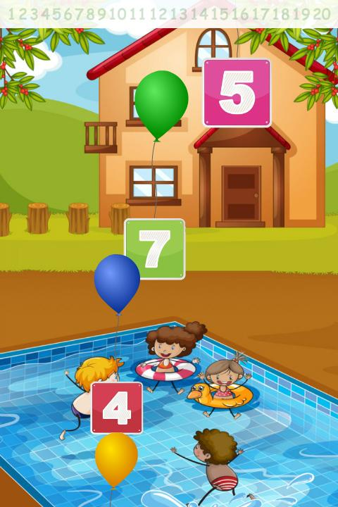 123 Ballon Numbers Kids- screenshot