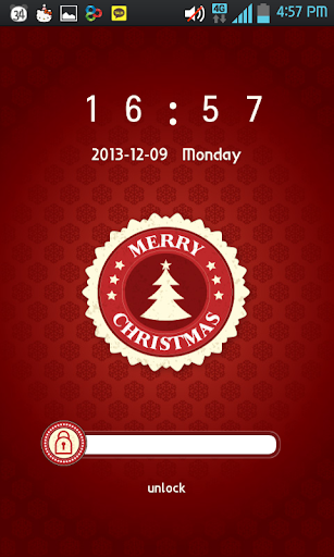 【免費個人化App】Red Christmas Go Locker theme-APP點子