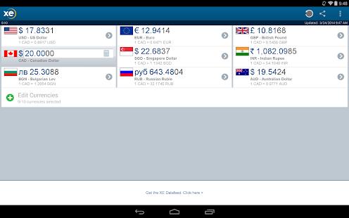 XE Currency- screenshot thumbnail