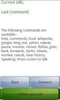 Screenshot of Speech Controlled Web Browser
