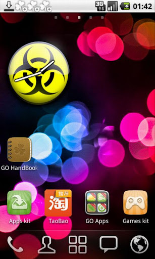 Biohazard Analog Clock Widget