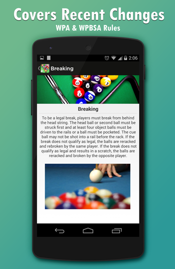 Pool & Snooker Rules- screenshot