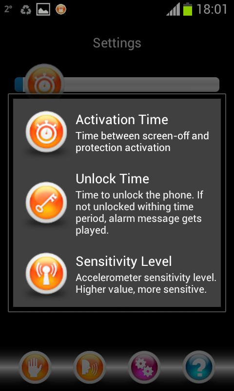 Simple Alarm System - screenshot