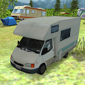 Camping RV parking caravane 3D icon