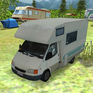 Camping RV Caravan Parking 3D