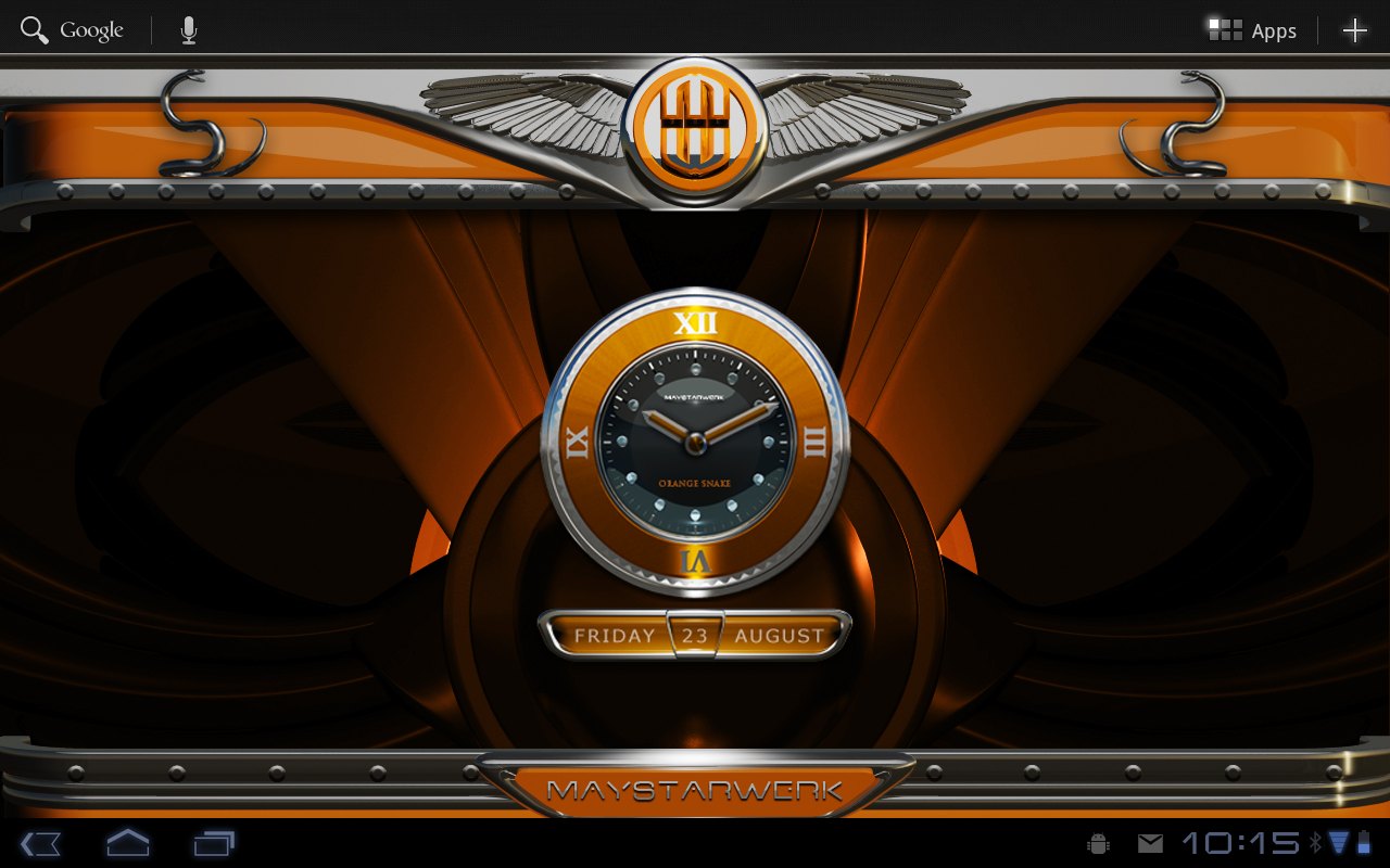Google theme orange