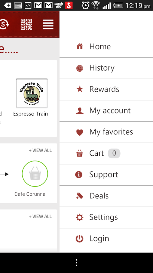 TXT4Coffee Customer App- screenshot