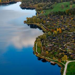 Kuntakinte by Peter Jerman - Landscapes Travel ( reflection, summer, lake, villge, areal )