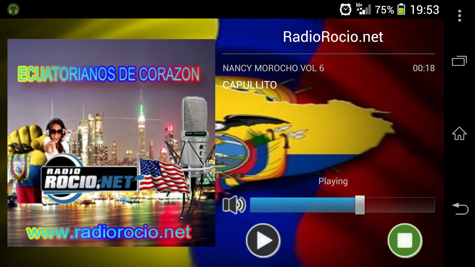 RadioRocio.net - screenshot