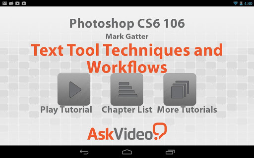 Photoshop CS6 106 - Text Tool