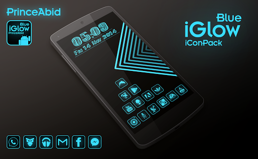iGlow Blue Icon Pack