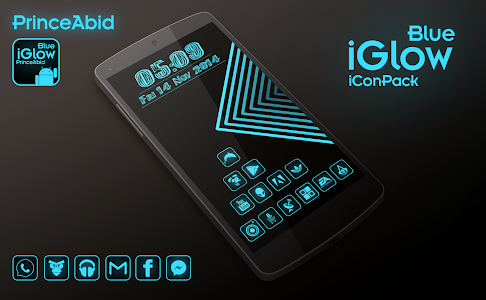 iGlow Blue Icon Pack v1.0.1
