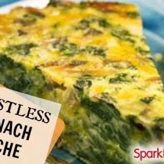 Crustless Spinach, Onion, and Feta Quiche.