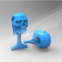 Cufflink with Skull Logo 2