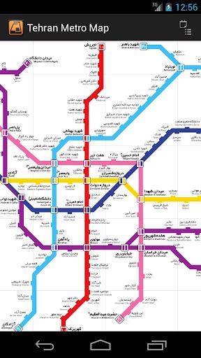 Tehran Metro Map free