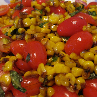 Quick Roasted Corn and Tomato Salad.