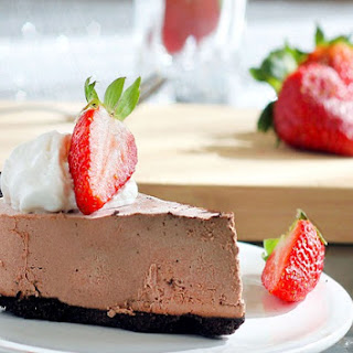 Chocolate Strawberry Truffle Pie.
