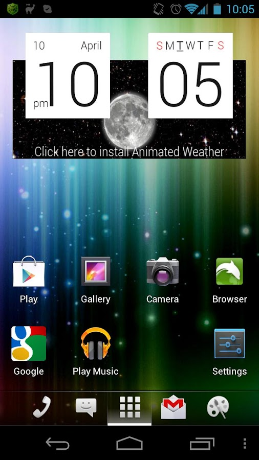 aShell Launcher Homescreen- screenshot