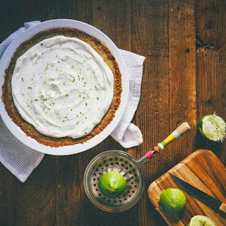 Maple Lime Custard Celebration Pie with a Pecan Biscotti Crust