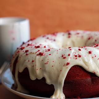Red Velvet Bundt Cake with Cream Cheese Icing.