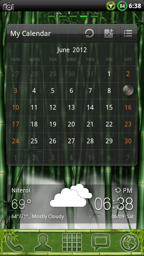 Bamboo GO Launcher EX Theme - screenshot