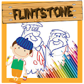 Colouring Page Flinstone