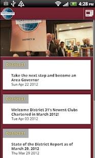District 31 Toastmasters - screenshot thumbnail