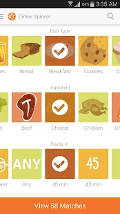 Allrecipes Dinner Spinner- screenshot thumbnail