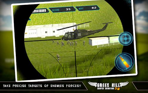 Green Hill Sniper Shooting 3D