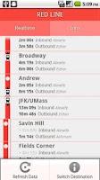 Screenshot of MBTA Realtime T Boston Subway