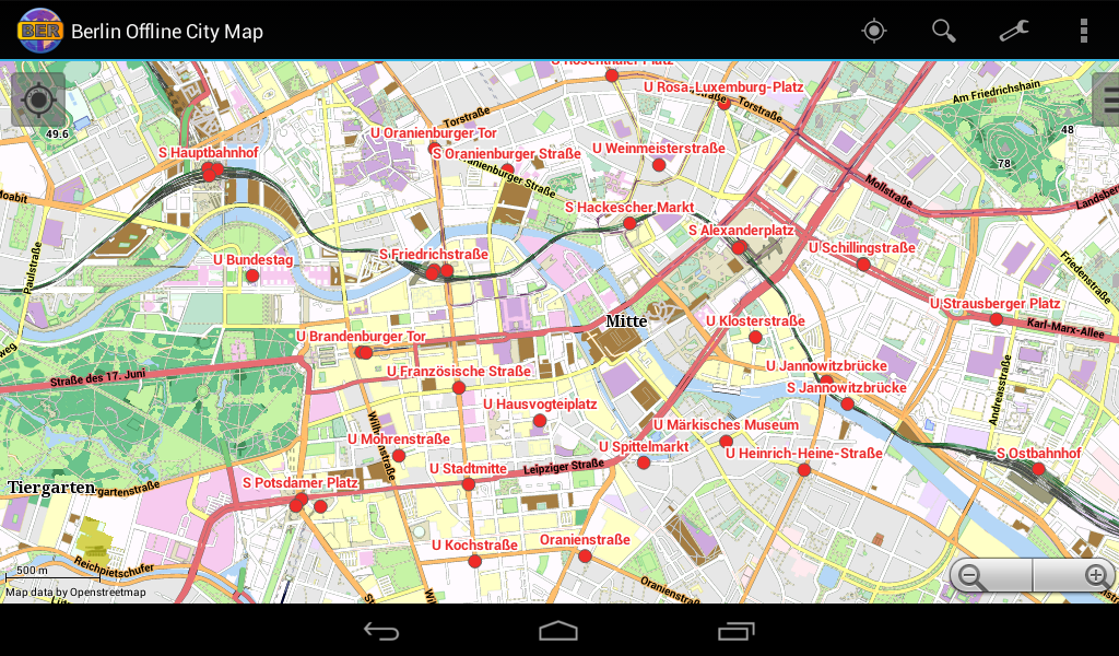 Berlin Offline City Map - screenshot