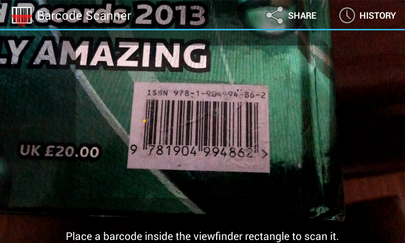 Books Barcode Scanner - screenshot