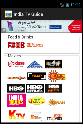 TV Guide for Indian Channels