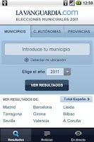 Screenshot of RESULTADOS ELECCIONES 2011
