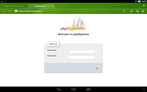Bit Web Server (PHP,MySQL,PMA)- screenshot thumbnail