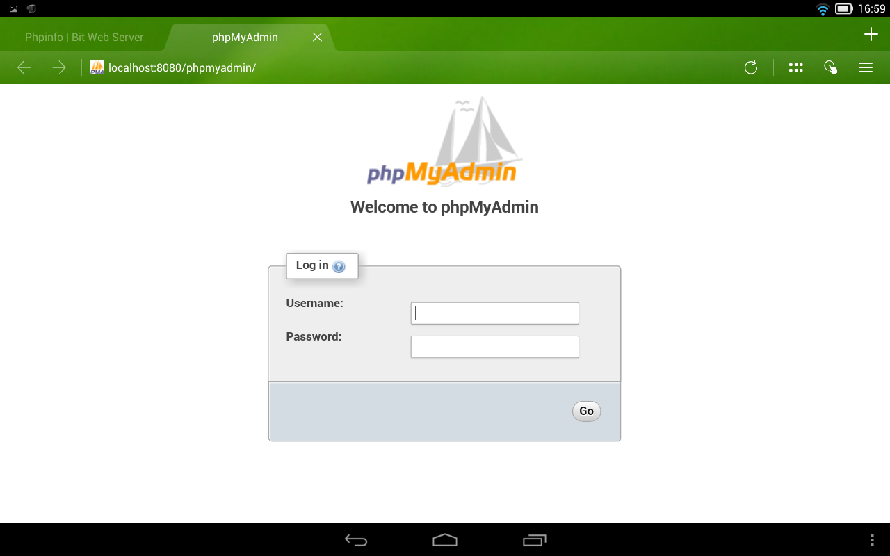 Bit Web Server (PHP,MySQL,PMA) - screenshot