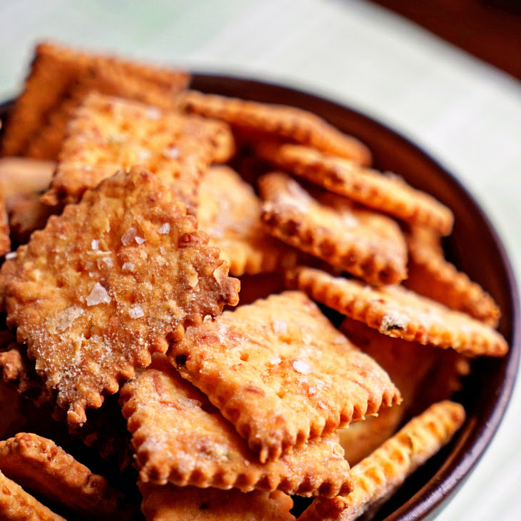 JalapeñO and Cheddar Cheese Crackers with Smoked Sea Salt Recipe