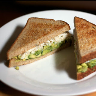 Crab and Avocado Sandwich.