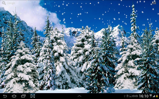 冬季森林動態壁紙。