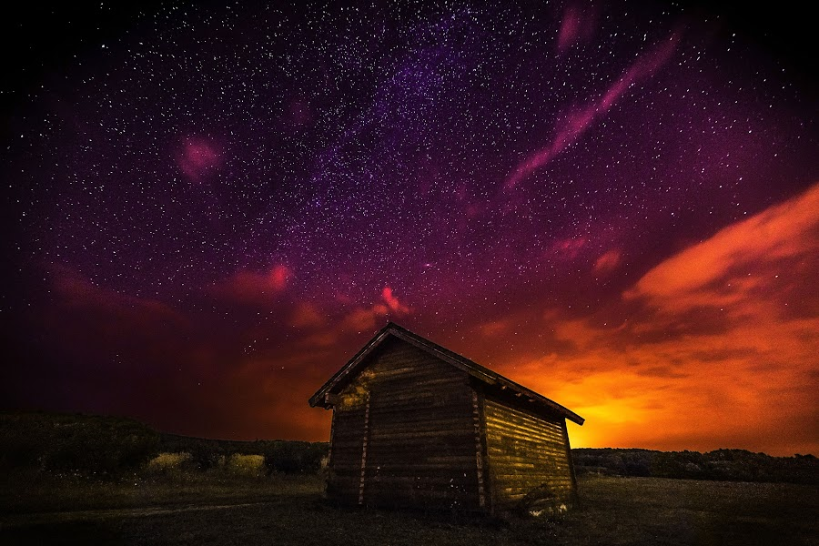 The Colors of Twilight by Mladen Bozickovic - Landscapes Sunsets & Sunrises ( clouds, home, colorful, colors, twilight, architecture, house, space, sky, nature, stars, sunset, night, light )