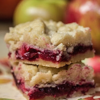 Cranberry Apple Shortbread Bars