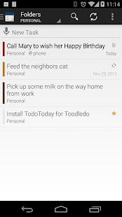 TodoToday for Toodledo- screenshot thumbnail