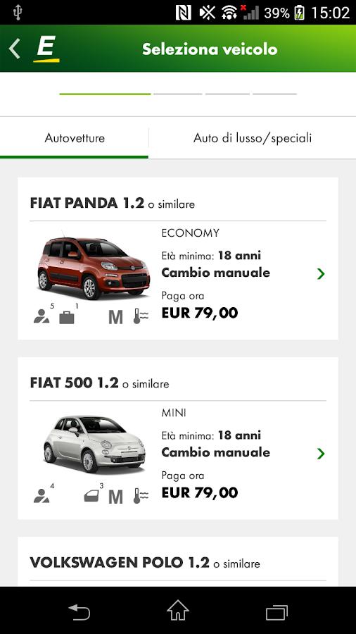 Europcar noleggio di auto app android su google play for Noleggio di cabine di istrice