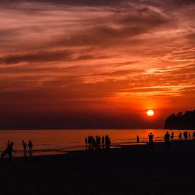 Sunset at Radhanagar by Pradyumna Verma - Landscapes Sunsets & Sunrises ( andaman, nature, sunset, india, beach, havelok,  )
