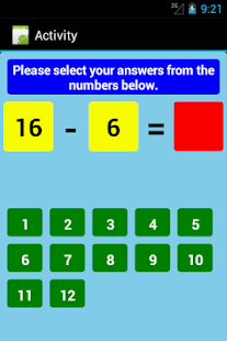 Subtraction Tables Free- screenshot thumbnail