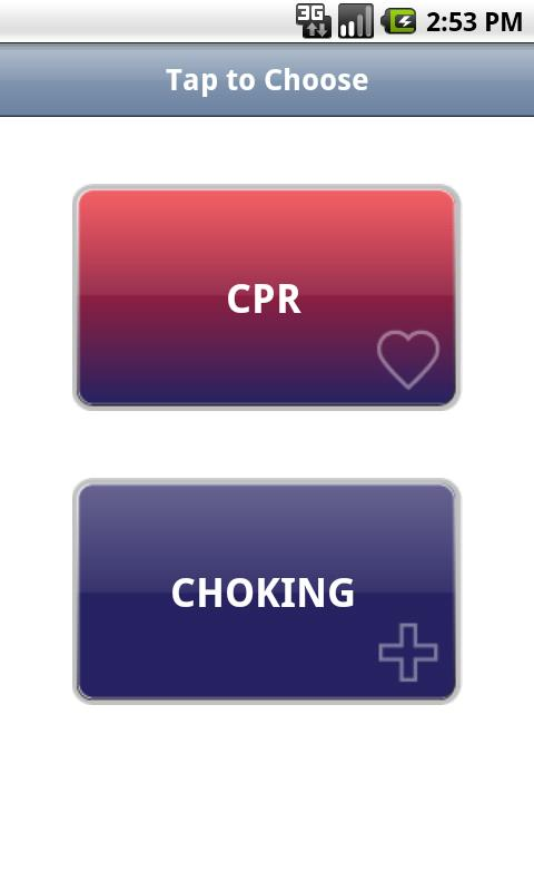 CPR•Choking: captura de pantalla