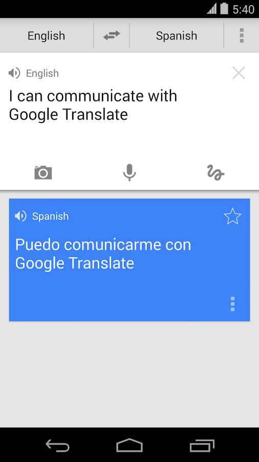 Google Tradutor - screenshot
